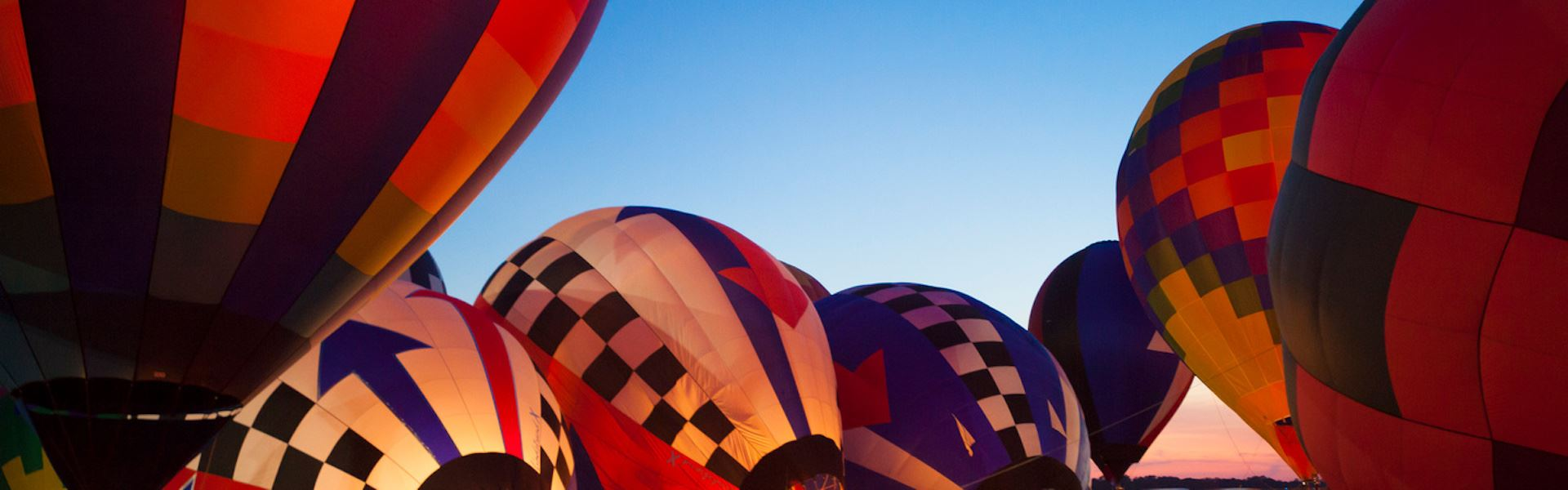 Colorful hot air balloons in Longview, TX