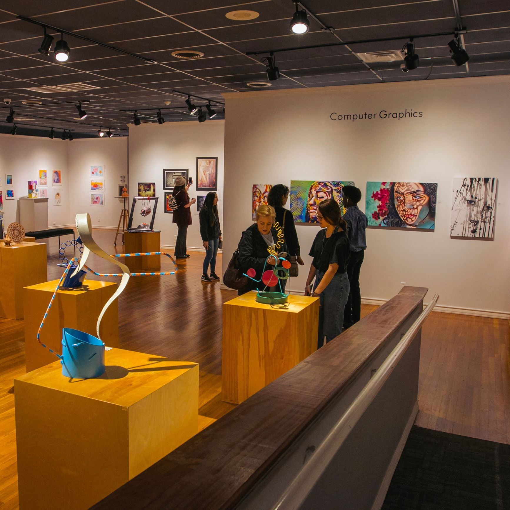 Student exhibit at the Longview Museum of Fine Arts