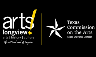 ARTSLongview and TCA logos with black background