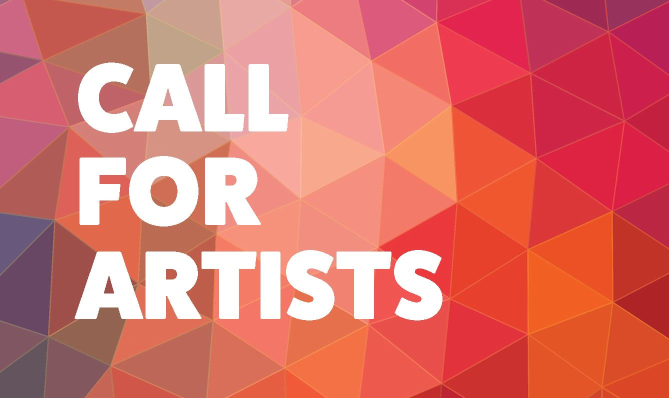 Call for artists on a geometric background